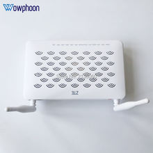 Free Shipping F660W ZTE GPON ONU ONT 4FE+2TEL+USB+WIFI External, English Firmware, With Patchcord, Power adapter, Box