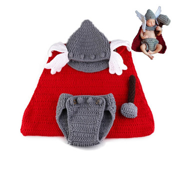 Newborn Baby Infant Photography Props Baby Hat  Newborn Outfit  Halloween Costume Baby Photo Accessories indian design newborn baby hat with diaper cover knitted photography props costume outfit funny infant beanies