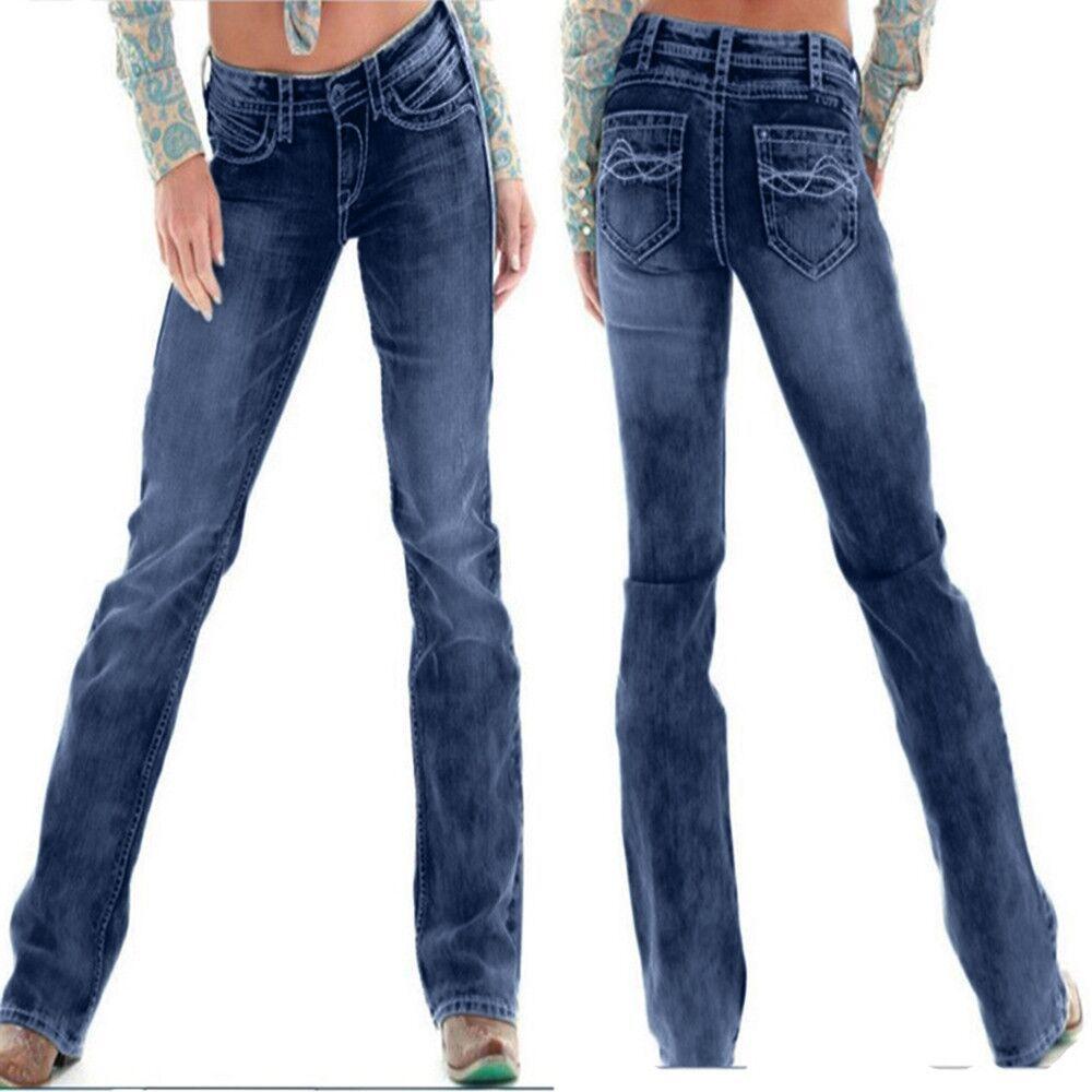 Taille moyenne petit ami jambe large femmes bleu Denim Jeans 2019 automne printemps lâche petit ami Jeans grande taille