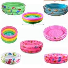 Радужный детский надувной круглый бассейн из ПВХ для детей 0