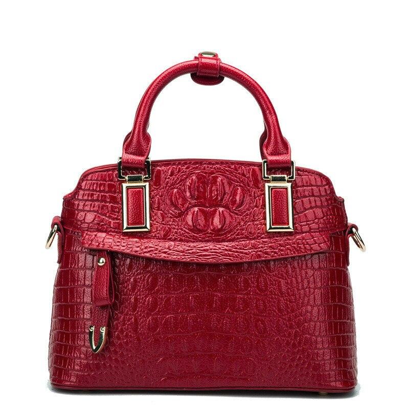 Fashion Luxury Handbags Women Crocodile Handbag High Capacity Shoulder Messenger Bags Designer Ladies Commuting Office Bag Totes