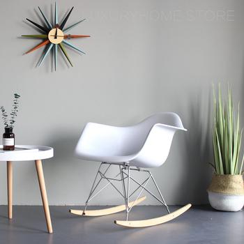 Nowoczesny Design moda kolorowe plastikowe solidne drewniane fotel bujany z ramieniem salon relaks fotel wypoczynkowy popularny Rocker 1PC tanie i dobre opinie DERBO CN (pochodzenie) Nowoczesne Meble do salonu As Picture MR-2995 Minimalistyczny nowoczesny Szezlong Meble do domu Z tworzywa sztucznego