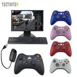 Dla Xbox 360 2.4G kontroler bezprzewodowy komputer z odbiornikiem PC bezprzewodowy pad do gier pilot dla Microsoft Xbox360 Joystick Controle w Gamepady od Elektronika użytkowa na
