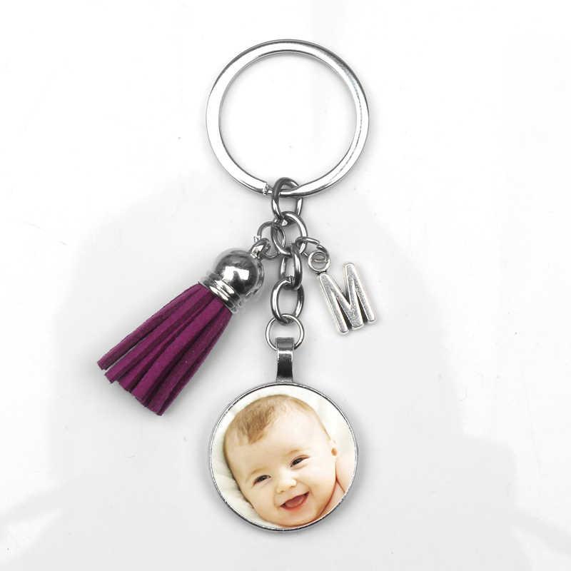 DIY תמונה שרשרת אישית מותאם אישית מחזיקי מפתחות תינוק אוהבי משפחת Keyrings חבר מתנה מפתח שרשרת טבעות מחזיק עבור מתנות