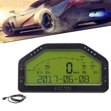 12 В Универсальный многофункциональный автомобиль гоночная приборная панель ЖК-дисплей ралли Датчик метр сенсор комплект для ралли автомобиля DO908