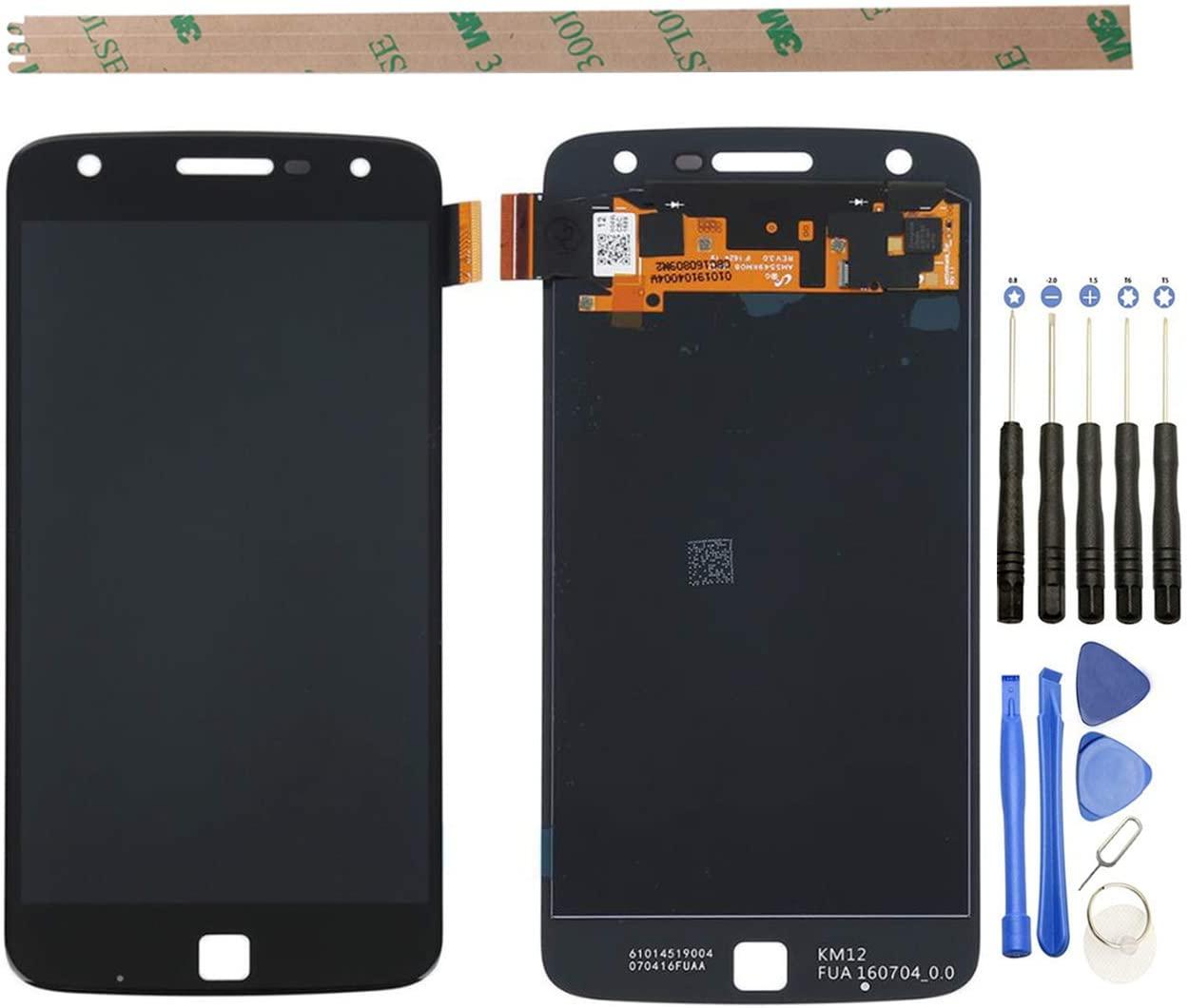 Replacement Assembly for Motorola MOTO Z Play <font><b>XT1635</b></font> <font><b>XT1635</b></font>-01 <font><b>XT1635</b></font>-02 <font><b>XT1635</b></font>-03 LCD <font><b>Display</b></font> and Touch Screen Digitizer Glass image