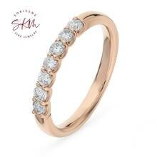 Skm 14k 18k розовое золото кольца для женщин Муассанит винтажные