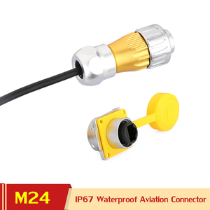 M24 UL CE 8 Pin 8P8C al aire libre RJ45 Cable Ethernet enchufe conector a prueba de polvo impermeable cubierta IP67 Panel Jack adaptador de señal