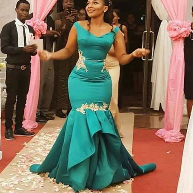 Elegant Plus Size African Mermaid Bridesmaid Dresses Long with Appliques Lace Wedding Party Gown Bridesmaid Dress Custom made