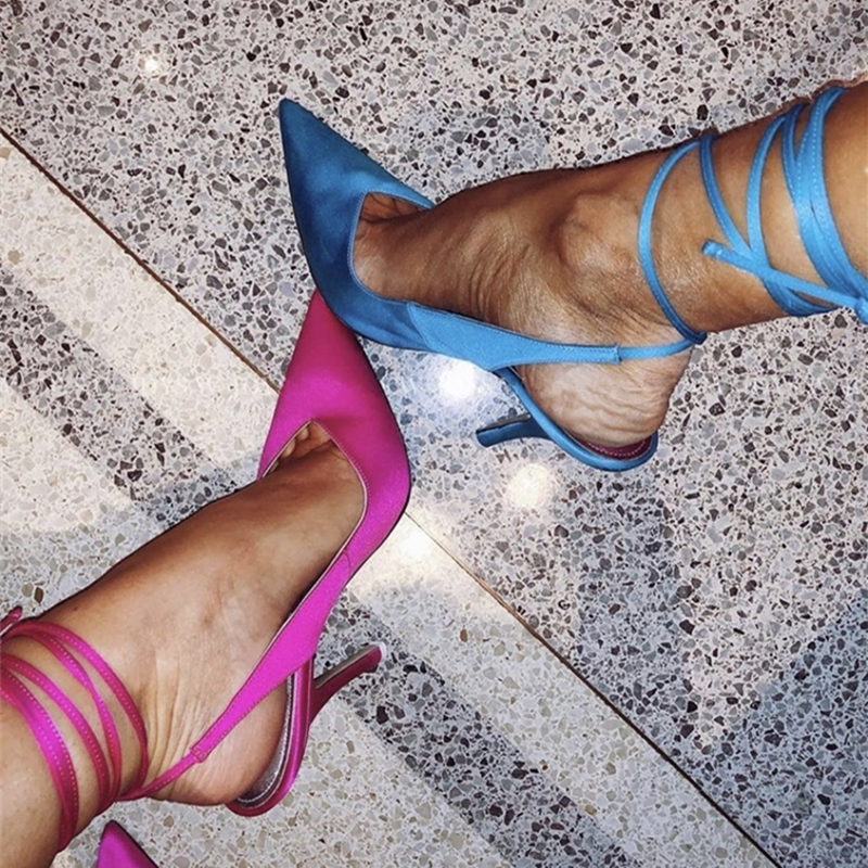 Spring 2020 New Style Pointed Toe High Heel Strap Women's Evening Dress Party Shoes