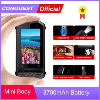 Перейти на Алиэкспресс и купить CONQUEST F2 маленький F2 мини IP68 надежные смартфоны 2020 мини смартфон IP68 смартфон NFC Android-смартфон разблокирован мовиль