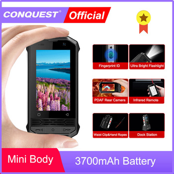 Conquista F2 poco F2 Mini IP68 teléfonos inteligentes resistentes 2020 Mini Smartphone IP68 teléfono inteligente NFC Smartphone Android desbloqueado Movil