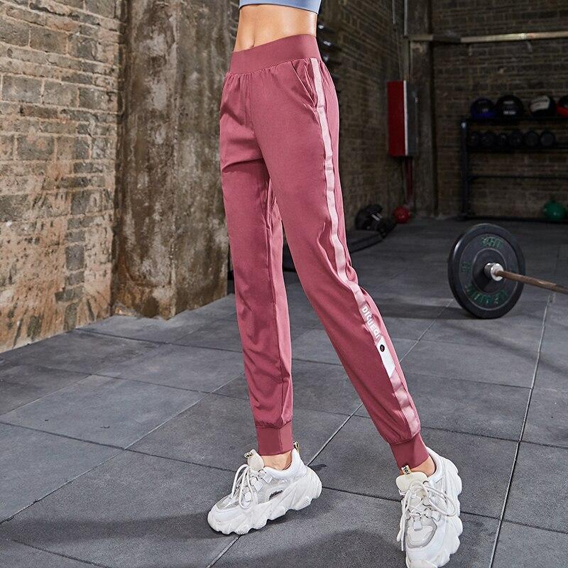 Women High Waist Yoga Running Dancing Black Pencil Pants Streetwear Cargo Pants Loose Jogger Trousers Women 2019 Sweatpants