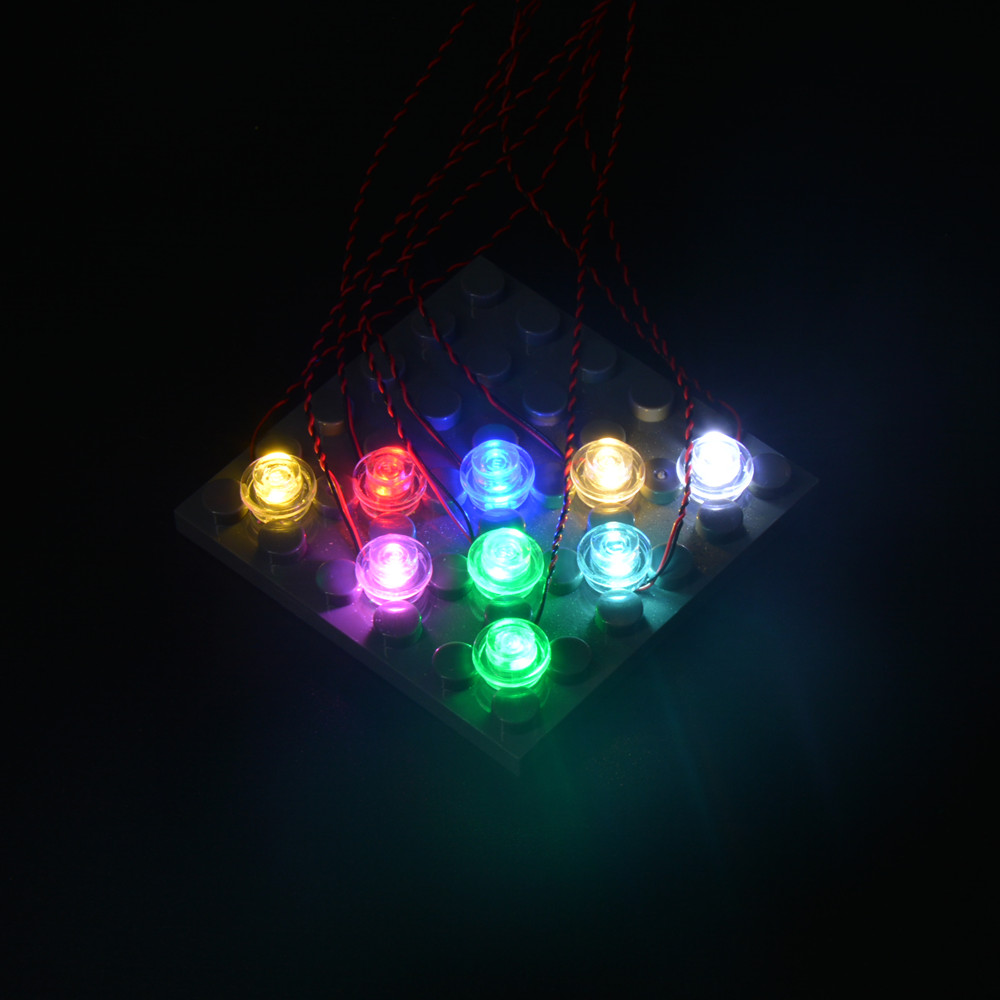 1pcs Led Bit Light  For Lego Building Blocks Model With 0.8mm Plug DIY  Customized Your Own Light Terminal Wire Harness