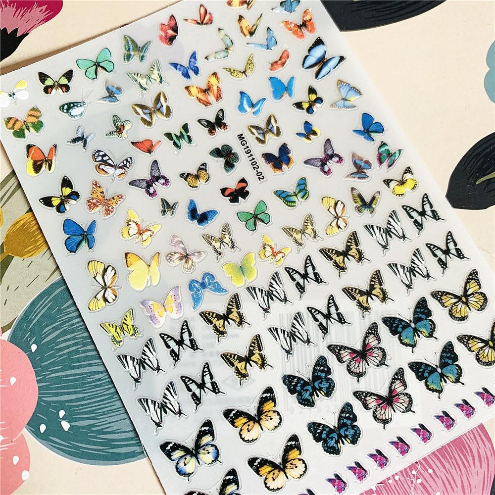 MG191102-02 Beautiful Butterfly Fantasy 3D Back Glue Nail Decal Nail Sticker Nail Decoration Nail Art Nail Tool Nail Ornament