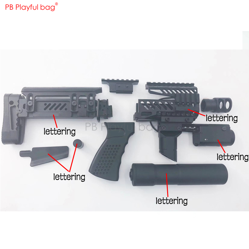 Playful Bag Outdoor CS Toy Aks74u Mst74u Jinming J12 Zeninte B11 Tactical Handguard + B12 + Upgrade Material PT 1 Brace OB50.1