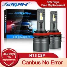 Xstorm 2 pçs h15 lâmpada led canbus csp carro farol alto feixe dia condução correndo luz 12v 6000k branco lâmpada de automóvel para vw audi bmw