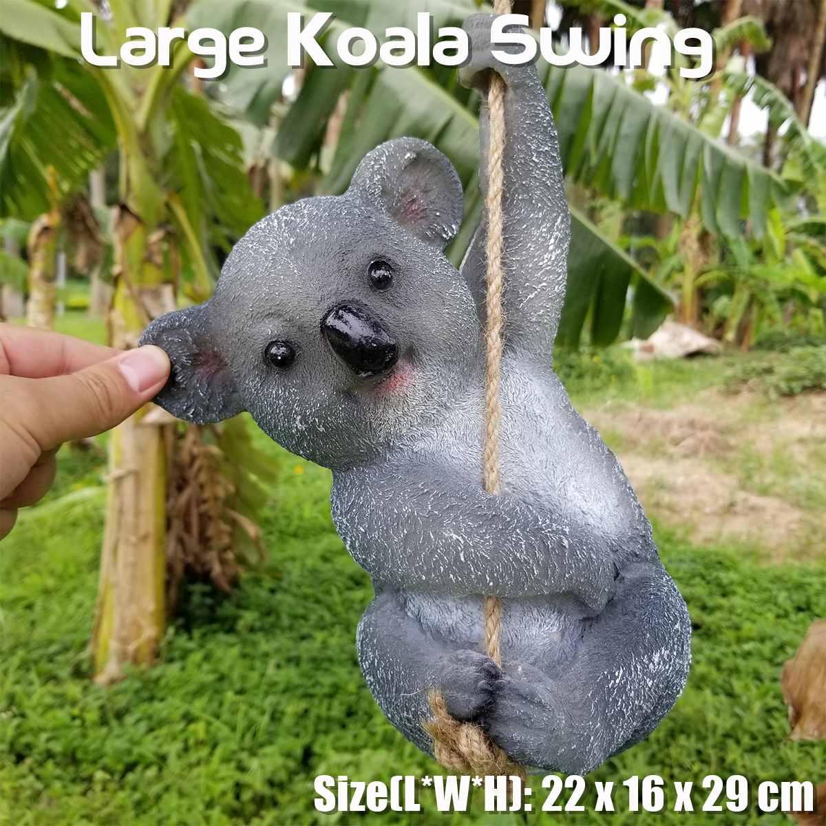 1Pcs Garden Yard Decoration Simulation Koala Swing Statue Animals Sculpture Resin Crafts Home Decoration Ornament
