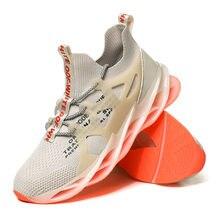 Мужская обувь blade качество breatherable Лоферы носок спортивная