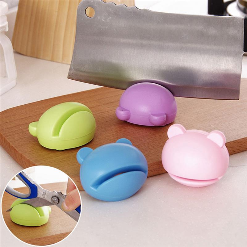 Cartoon Design Mini Knife Sharpener Made Of ABS plastic Material For Scissors Sharpening