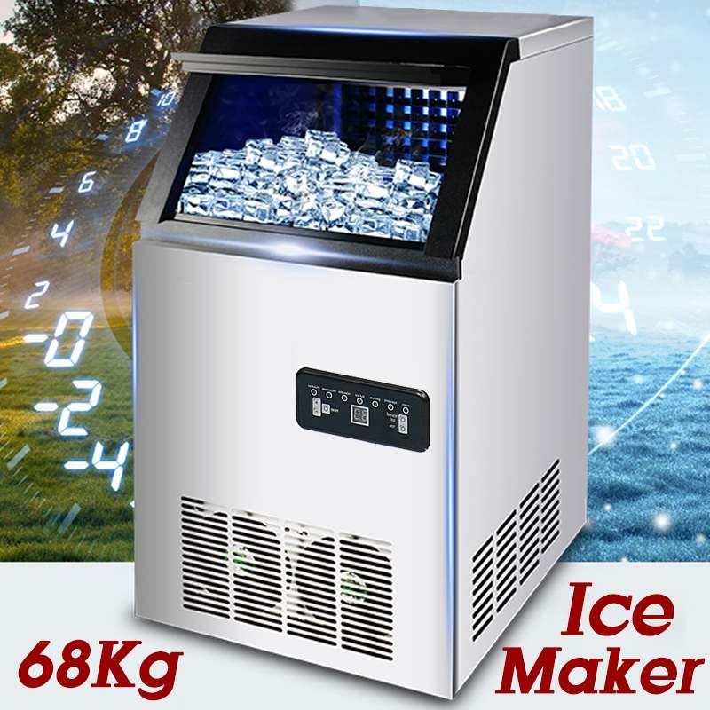68KG /24H 220V 300W Ice Making Machine Commercial Cube Ice Maker Automatic Household Ice Cube Making Machine For Bar Coffee Shop