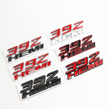 цена на 3D Metal 392 HEMI Car Sticker Emblem Badge Decals For Jeep For Dodge Challenger RAM 1500 Charger Avenger Caliber Dart Nitro
