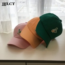 Hat Female Student Korean Style All-match Casquette Ins Soft Top Cartoon Embroidered Baseball Cap One-piece Sunbonnet Adult Dome(China)