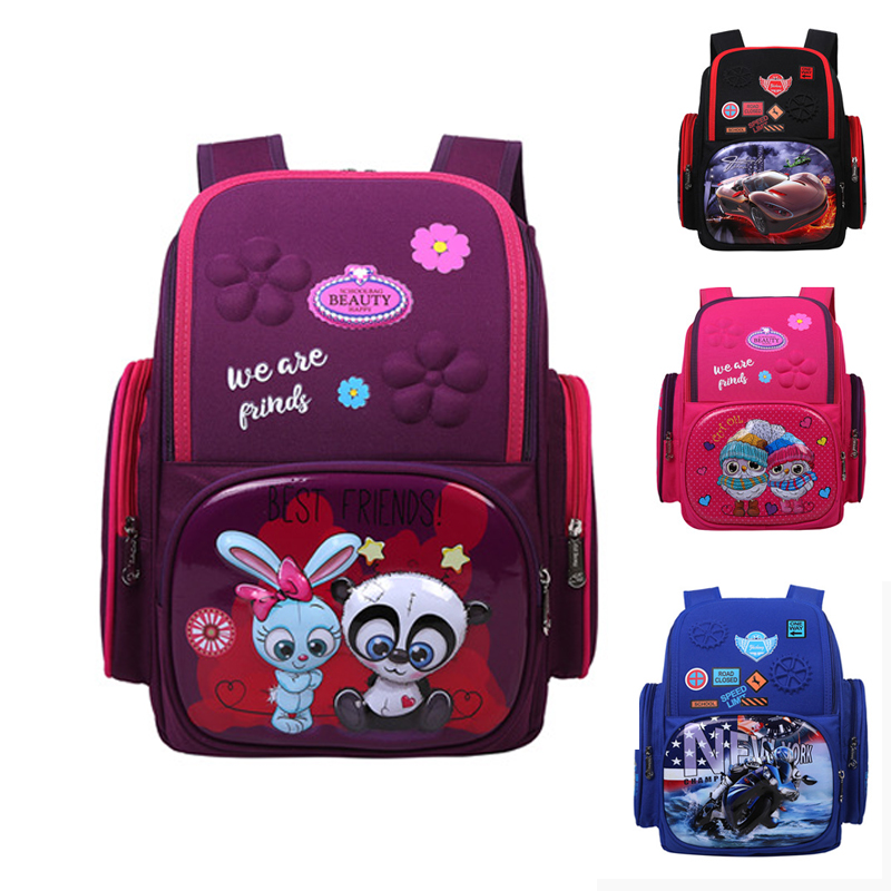 Girls Waterproof Breathable Schoolbags For Boys Kids 3D Cartoon School Bags Children Orthopedic School Backpacks Mochila Escolar