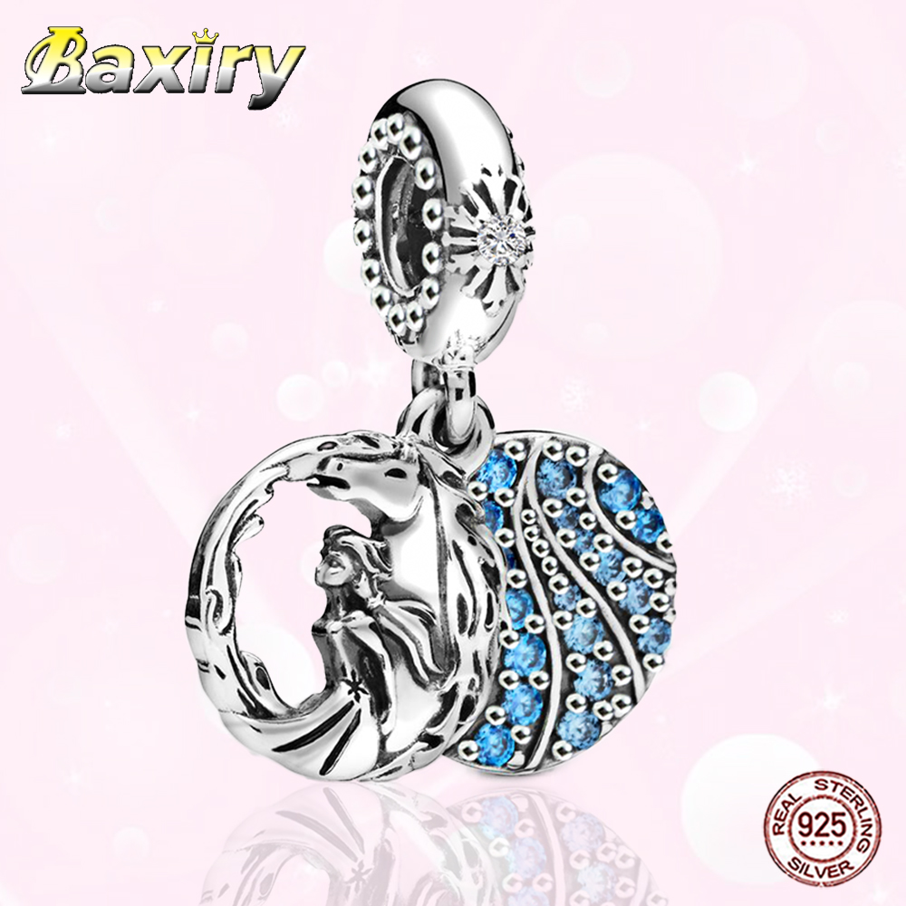 100% 925 Sterling Silver Charms Bracelet DIY Luxury Beads Fit Charms Silver 925 Original Christmas Gift For Women Jewelry Making