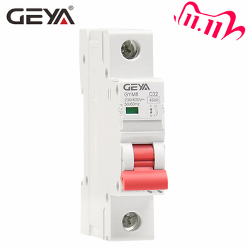 GEYA GYM8 1P Din Rail MCB 6A 10A 16A 20A 25A 32A 40A 50A 63A 220V Mini Circuit Breaker C Curve with CE CB SEMKO Certificate ichyti 220v 400v 1p 6a 10a 16a 20a 25a 32a 40a 50a 63a transparent shell air switch household miniature circuit breaker mcb