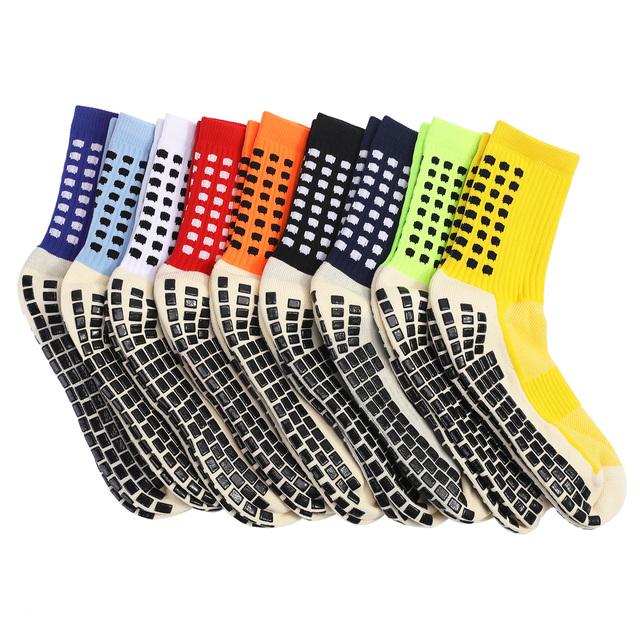 Men's Anti Slip Football Socks Athletic Long Socks Absorbent Sports Grip Socks for Basketball Soccer Volleyball Running