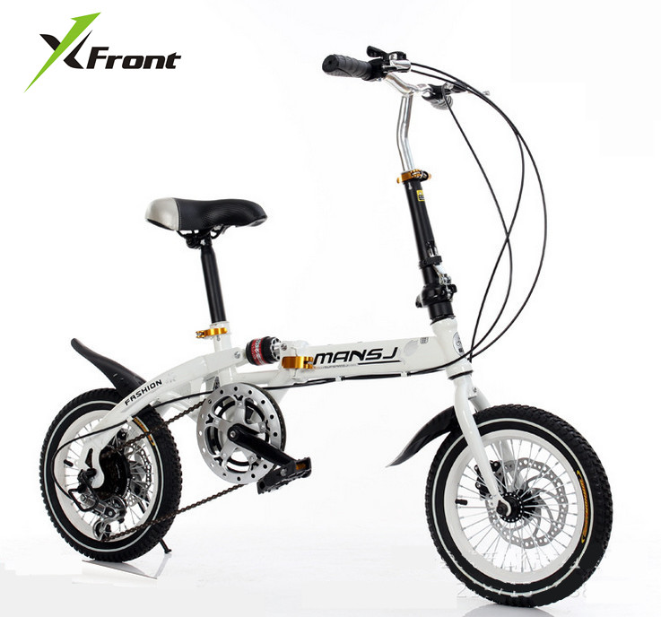 Original X-Front Brand Mini Gear Wheel Disc Brakes Damping Folding Bike Children Bmx Lady's Bicycle