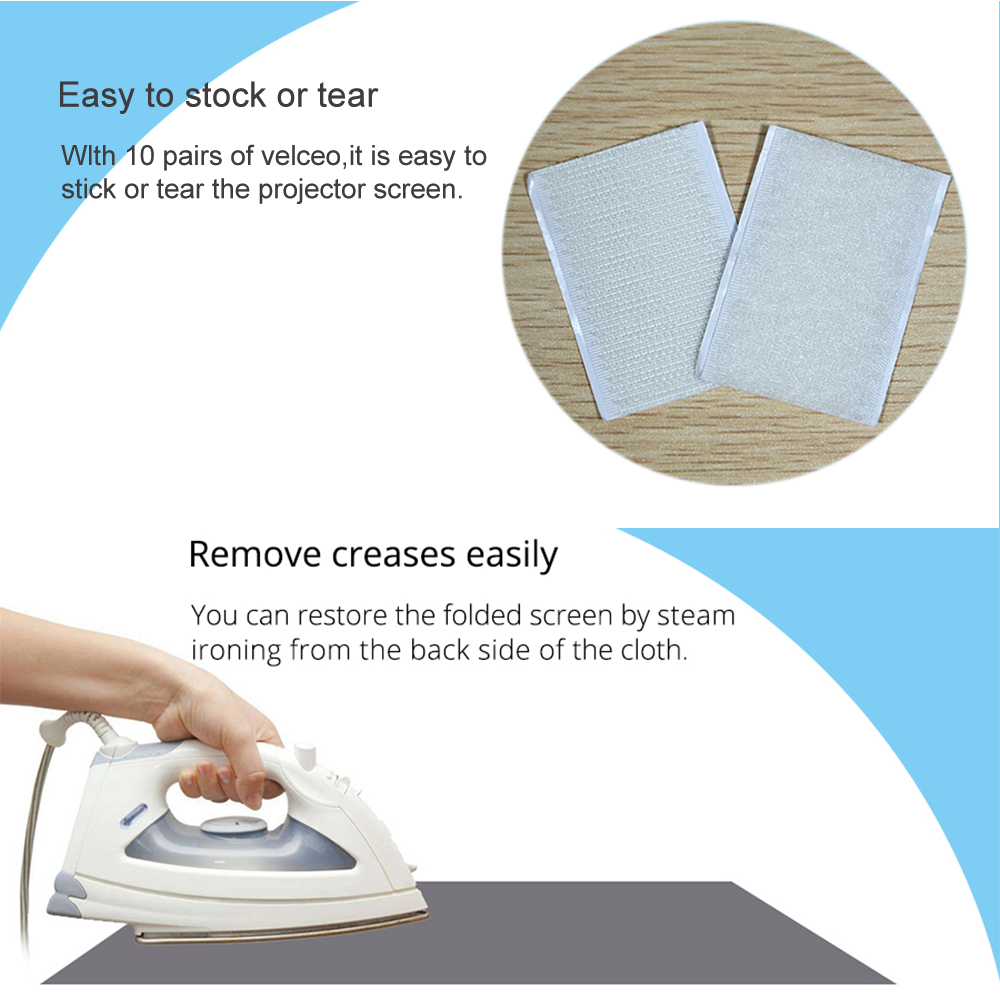 lowest price Projector Screen 60 72 84 100 120inch Reflective Fabric Projection Screen For XGIMI H3 Z6 H2 JMGO Xiaomi YG300 Espon Beamer