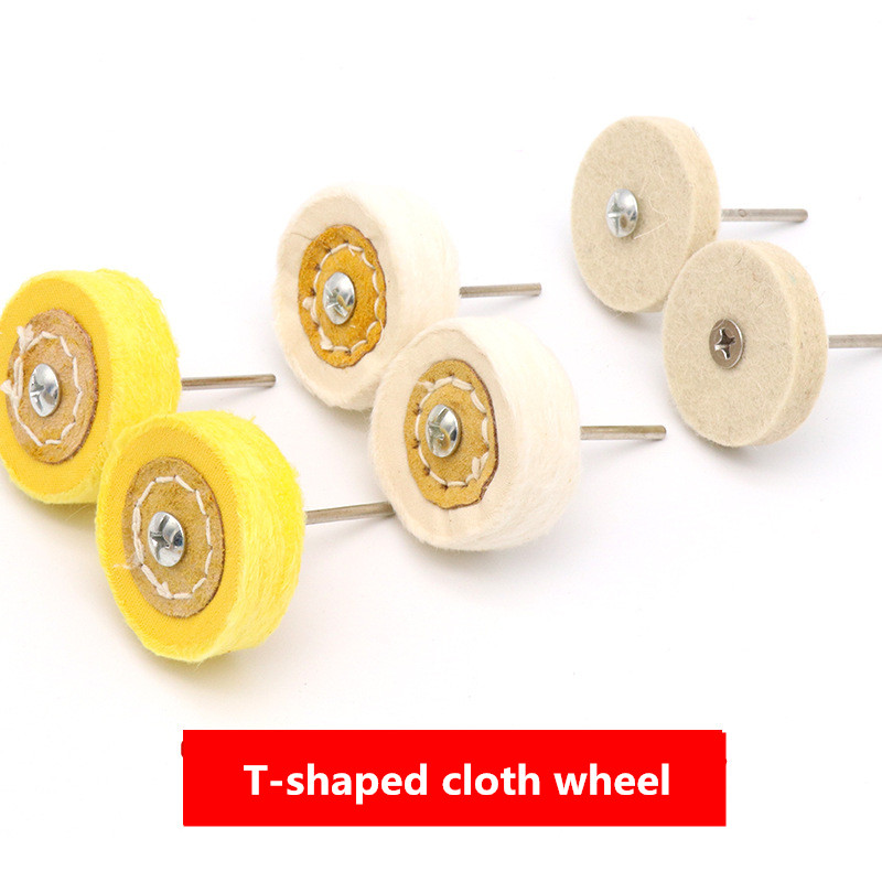 T-Style Polish Buffing For Car Polisher Wheel Grinding Head Cloth Wheel Grinder Brush Abrasive Tools             Car Accessories