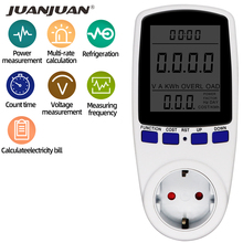 Power-Measurement-Socket Lcd-Display Wattmeter Eu-Power-Plug Wall-European 230V Voltage-Volt