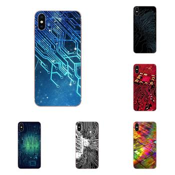 Lovely Phone Case Computer Battery Circuit Board For Samsung Galaxy Note 5 8 9 S3 S4 S5 S6 S7 S8 S9 S10 5G mini Edge Plus Lite image