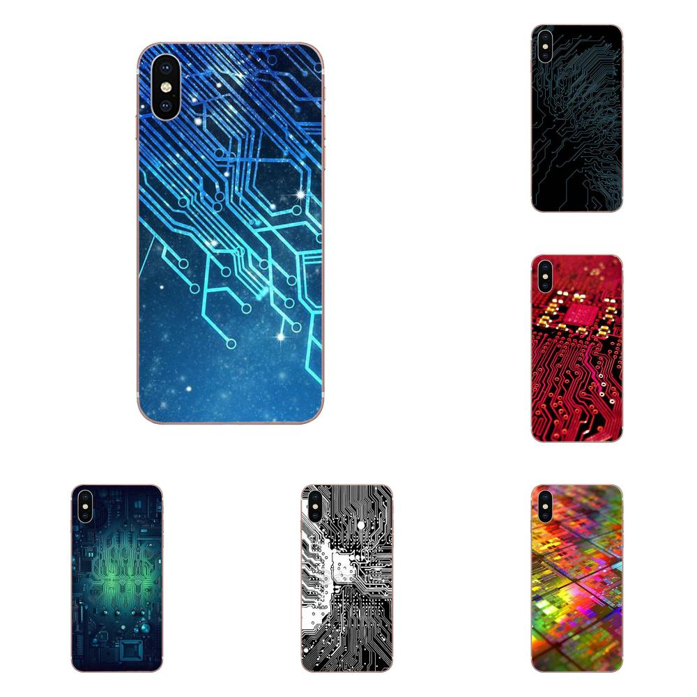 Lovely Phone Case Computer Battery Circuit <font><b>Board</b></font> For <font><b>Samsung</b></font> <font><b>Galaxy</b></font> Note 5 8 9 <font><b>S3</b></font> S4 S5 S6 S7 S8 S9 S10 5G mini Edge Plus Lite image
