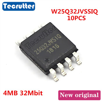10PCS W25Q32JVSSIQ 25Q32JVSIQ SOIC8 4MB 32Mbit 25Q32 25Q32JV SPI NOR FLASH - sale item Games & Accessories