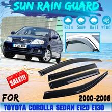 Rain-Guard-Shield Protector Deflector-Accessories Window-Visor 2004 Corolla E120 Toyota