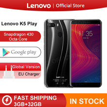 "Versión Global Lenovo K5 jugar 3GB 32GB Snapdragon 430 Octa Core Smartphone 1,4G 5,7 ""18:9 huella digital Android 8 13.0MP Cámara(China)"