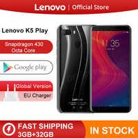 Lenovo K5 Play смартфон с восьмиядерным процессором Snapdragon 430, ОЗУ 3 ГБ, ПЗУ 32 ГБ, 18:9, 13 МП