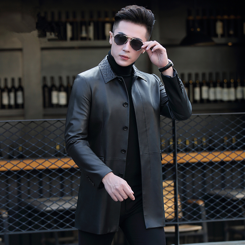 Genuine Leather Jacket Men Clothes 2020 Mens Sheepskin Coats Autumn Winter Leather Jackets Chaqueta Cuero Hombre ZL938
