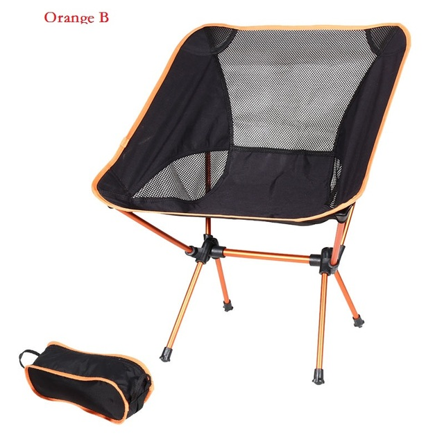 2020 Outdoor Camping Chair Oxford Cloth Portable Folding Camping Chair Seat for Fishing Festival Picnic BBQ Beach Stool With Bag 3