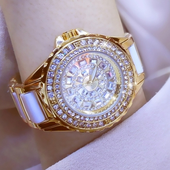 2020 Diamond Luxury Brands Watches Women Quartz Watch Famous Brand Fashion Ceramic Women Wrist Watches Ladies Relogio Feminin