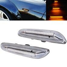 1 Pair 12V Front Left Right LED Flowing Side Marker Light Turn Signal Lights For BMW E46 E60 E82 E92 E93 Dynamic