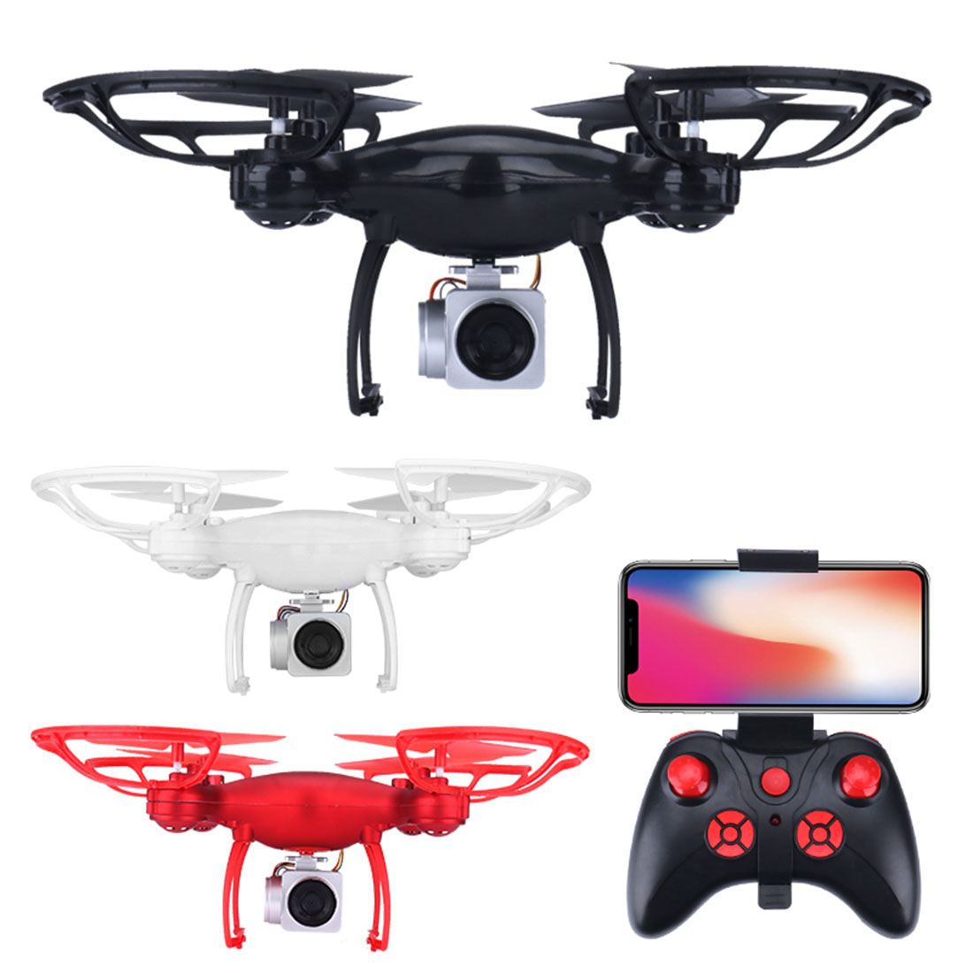 S8 1080P HD Camera Drone FPV WIFI Real-time Transmission RC Quadcopter 3 Modes Speed One-key Return Altitude Hold Mini Dron Gift