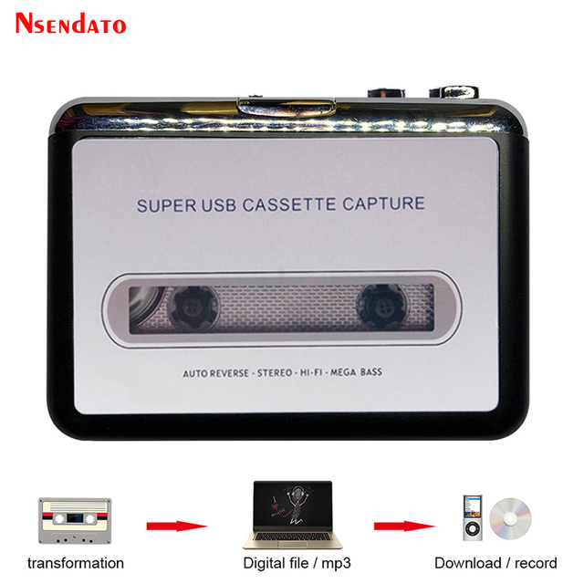 Kaseta USB odtwarzacz taśmy do MP3 konwerter przechwytywania Adapter odtwarzacz muzyki Audio taśma kaseta USB magnetofon kasetowy i odtwarzacz