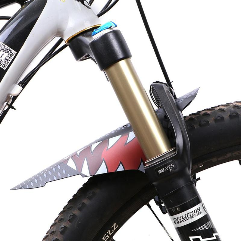 Bicycle Fender Portable Ultra-thin Front Fork Simple Flashing Board Mountain Bike Front Rear Sadddle Fender Ass Saver For Tire
