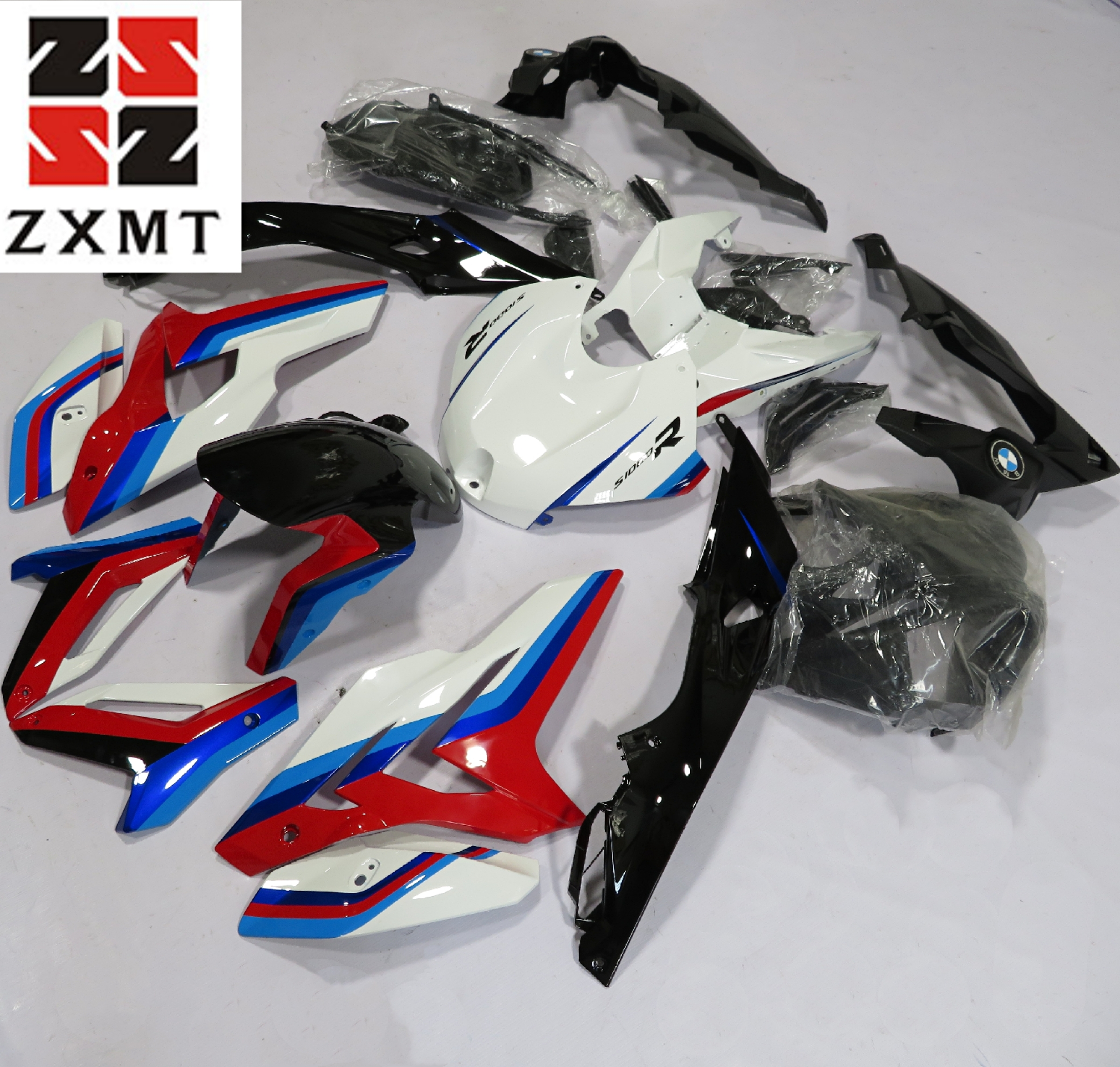 ZXMT Full Fairing Set Kit Fit For BMW S1000RR 2015-2016 Complete Bodywork Panel Injection Mould S1000 RR 15 16 Blue Red White image