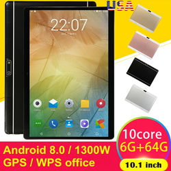 Hd Game Tablet 6G + 64G Android 8.0 Computer Pc Tien-Core Gps Wifi Dual Camera Tablet pad Ondersteuning Dual Sim-kaart